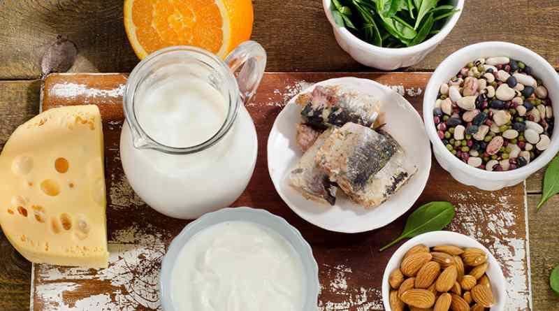 Набор продуктов, содержащих витамин Д